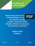 Manuel IAASB Edition 2018 Vol I