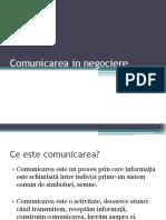 Comunicarea in negociere - curs 3 2020