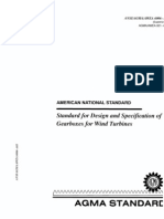 AGMA 6006-a03 Design & Specs - Wind Turbine Gearboxes.