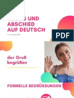 gruss und abschied auf deutsch