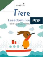 m007zl5 Lesedomino Bild-Satz-Zuordnung Tiere