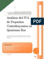Análisis del IVA de Pequeños Contribuyentes en Quintana Roo