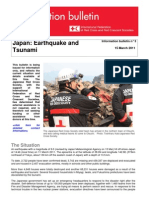 Red Cross Bulletin on the Pacific Ocean Earthquake 3/15