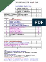 (11°gg RIT (18-Mar-2011) CAMP. PROV.LE Serie B1-B2-B3-B4