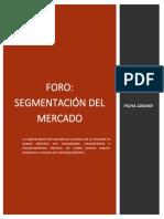 FORO SEGMENTACIÓN DE MERCADO