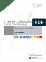 Etude sur la microassurance dans la zone CIMA