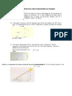 Exercícios sobre Trigonometria no Triangulo retangulo