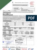 certificados de calibracion de los equipos de ocv