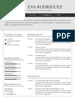 Modelo de Curriculum Vitae Cronologico 2