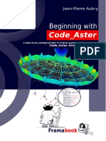 Beginning With Code Aster. a Practical Int - Aubry, Jean-Pierre