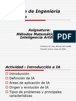 1.- Introducción a Métodos Matemáticos de IA y Resumen de Teoría de Las Probabilidades