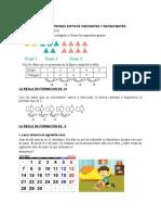 AREA DE MATEMATICA-PATRONES ADITIVOS CRECIENTES Y DECRECIENTES