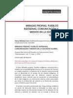 MIRADAS PROPIAS. PUEBLOS INDÍGENAS, COMUNICACIÓN Y MEDIOS EN LA SOCIEDAD GLOBAL