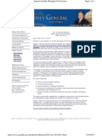 Idaho Attorney General - Wasden Issues Report on Idaho Mortgage Foreclosures, Press Release 2/14/2011