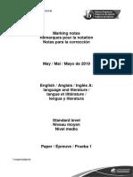 English a Language and Literature Paper 1 SL Markscheme Raylene May 26