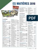 LOCO REVUE Table des matières 2016