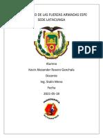 ROSERO KEVIN IMPORTANCIA DEL ESTUDIO DE ESTRUCTURAS AUTOMOTRICES