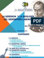 LA GERENCIA Y LA  AXIOLOGÍA DEL DESEMPEÑO LABORAL DOCENTE