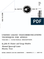 Unified S-Band Telecommunications Techniques for Apollo Volume I Functional Description