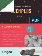 Ejemplos de materiales cerámicos