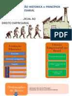 Slide 01 - Evolução Historica Direito Comercial  e Principios