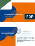 AULA 01 e 02 - Conceito de Economia