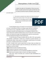 Tema 3 - Municipalismo e poder local