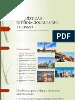 ESTADÍSTICAS INTERNACIONALES DEL TURISMO