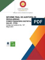 Informe auditoría Contraloría de Bogotá