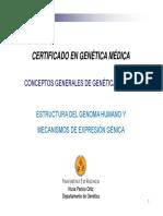 1. Estructura Del Genoma Humano y Mecanismos de Expresión Génica-2017