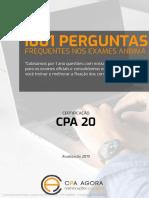 1001 QUESTOES CPA 20 2019 CAPA