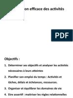 Planification Efficace Des Activités