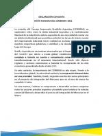 Cembrar Declaración Conjunta Junio 2021