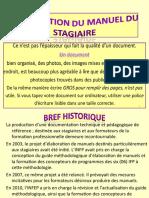 Élaboration Du Manuel Du Stagiaire