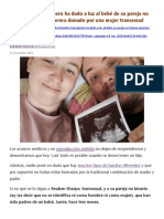 Hombre transgénero ha dado a luz al bebé de su pareja no binaria con esperma donado por una mujer transexual