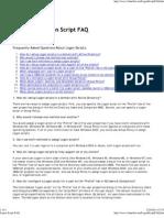 Logon Script FAQ