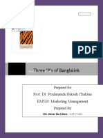 Banglalink Product, Price & Promotion Strategies