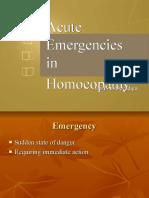 Acute Emergencies in Homoeopathy