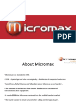 MicroMax sucess story and marketing strategy