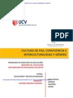 CULTURA DE PAZ, CONVIVENCIA E INTERCULTURALIDAD Y GÉNERO- NORMA RAMIREZ
