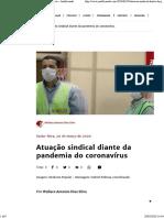 Artigo - Atuação sindical - corona virus - Justificando
