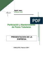 PRESENTACION DE LA EMPRESA AYNI PERFORACION