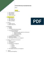 Indice de Un Protocolo de Investigacion