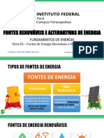 Tema 03 – Fonte de Energia Renováveis e Não Renováveis