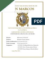 INFORME DE LABORATORIO NRO 2 LEY D EOHM