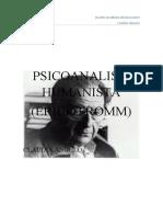 PSICOANALISIS HUMANISTA ERICK FROMM