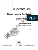 Consuelo Velazquez Besame Mucho a Jazz Latino French Horn and Piano