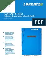 Brochure pompe solaire hybride Lorentz PSK3