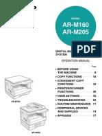 Sharp-AR-M160-205-Manual