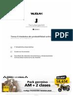 Wuolah Free Tema 5 Modelos de Probabilidad Univariantes